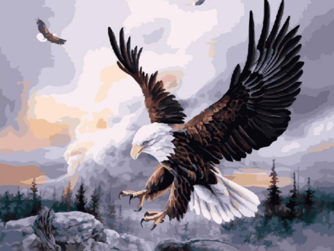 Алмазная Мозаика 20x30 Орел на охоте