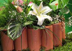Ограждение декоративное пластиковое «Садовый конструктор» (высота 15)