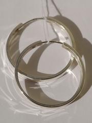 Конго 2,5 см. плоские с узором (серьги из серебра)