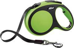 Поводок-рулетка Flexi New Comfort L (до 60 кг) лента 5 м черный/зеленый