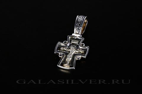 Крест из серебра 925
