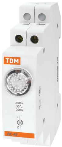 Лампа сигнальная ЛС-47 зеленая (LED) AC/DC TDM