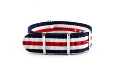 Nato Strap Navy White Red