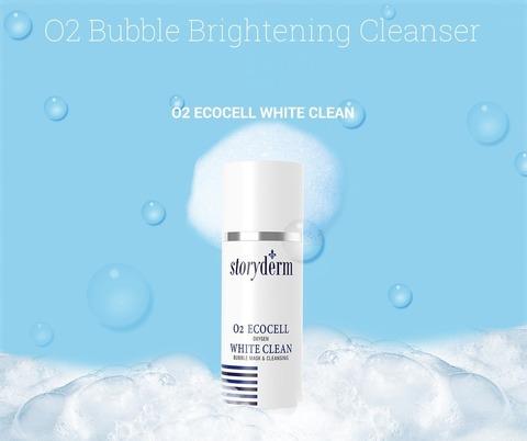 Очищающее средство-кислородная маска 2в1, 100 мл / Storyderm O2 Ecocell White Clean