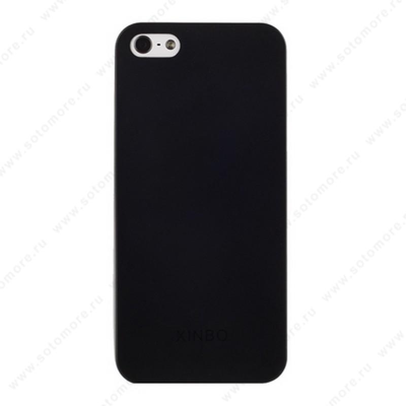 Накладка XINBO супертонкая для iPhone SE/ 5s/ 5C/ 5 черная