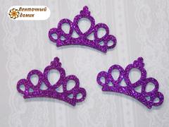 Заготовка корона маленькая фиолетовая