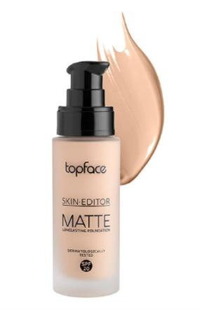 TopFace Тональная основа матовая Skin Editor Matte тон 06, сатиновый загар - PT465 (32мл)