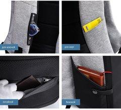 Рюкзак для ноутбука 15,6 KAKA 806 чёрно-серый (уценка)