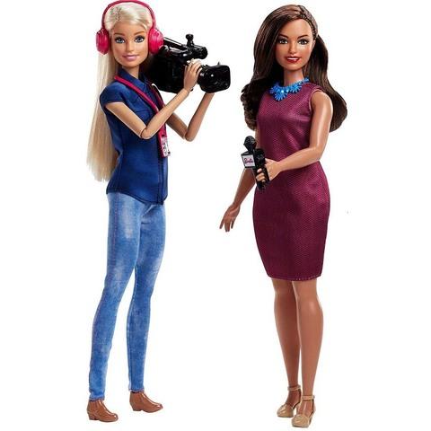 Набор из 2 кукол Команда ТВ новостей. Барби Профессии