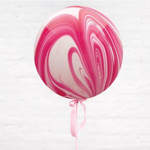 Большие шары, розовый агат