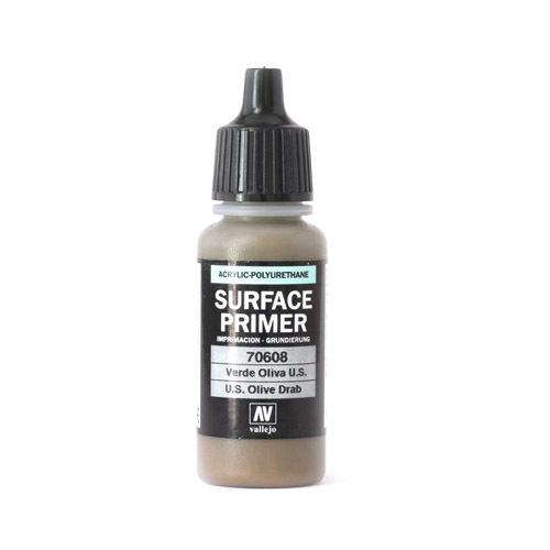 Грунты Surface Primer акриловый полиуретановый грунт, US Оливковый (U.S. Olive Drab), 17 мл 70608.jpg