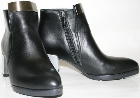 Ботильоны на каблуке Jina черные