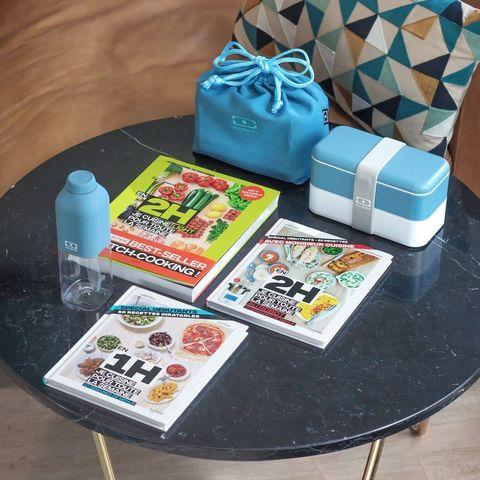 Комплект bleu crystal ланч бокс, бутылка и мешочек denim