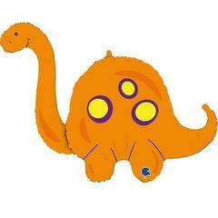 Г Фигура Динозавр Бронтозавр Оранжевый , 44