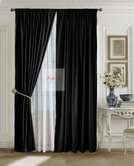 XL-комплект штор Ницца (чёрный)