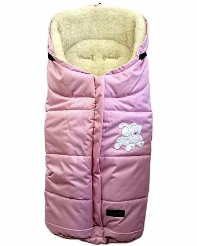 """№12 Спальный мешок в коляску """"Wintry"""", polar флисовый (3 розовый)"""