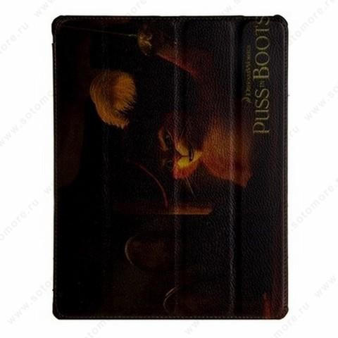 Чехол-книжка Jisoncase для Apple iPad 4/ 3/ 2 с рисунком черный вид 150