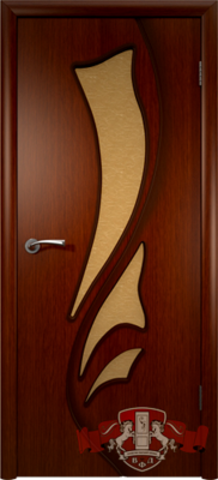 Дверь 5ДО2 (макоре, остекленная шпонированная), фабрика Владимирская фабрика дверей
