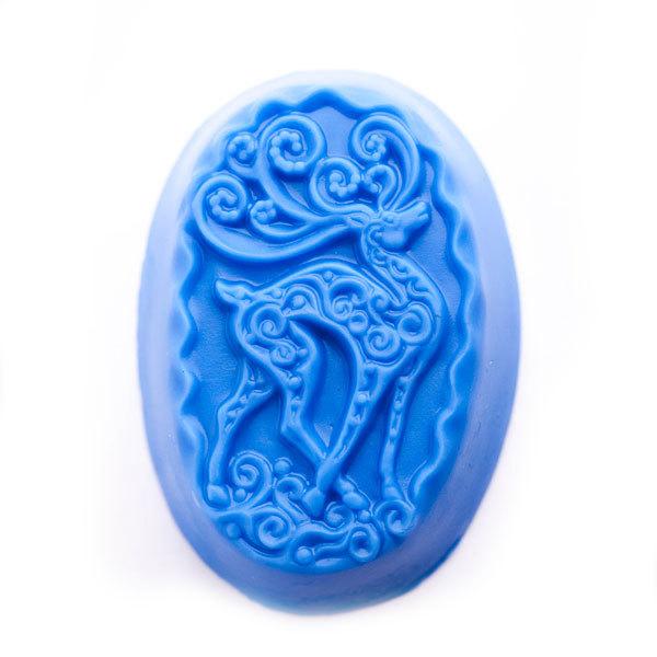 Пластиковая форма для мыла Олень