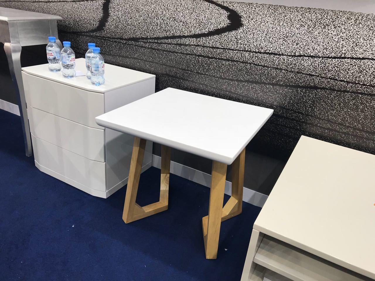 Стол журнальный J1692C Белый/Ясень