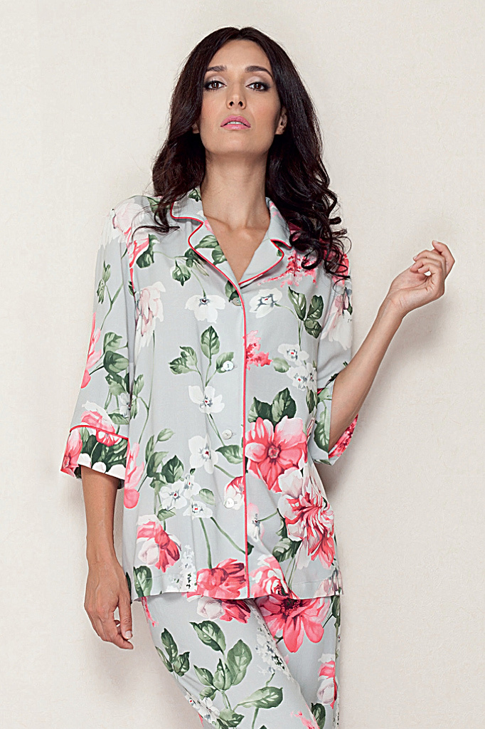 Цветочная пижама с укороченным рукавом B&B