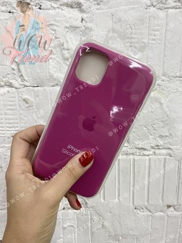 Чехол iPhone 11 Pro Silicone Case /dragon fruit/ тёмная фуксия 1:1