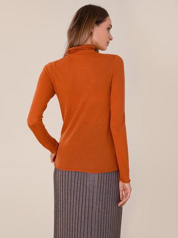 Женский свитер оранжевого цвета из 100% шерсти - фото 4