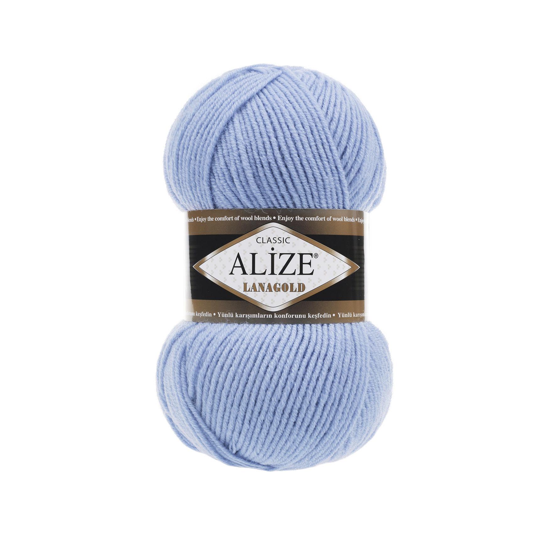 Пряжа Alize Lanagold 40 серо-голубой