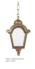 Светильник садово-парковый, 60W 230V E27 IP44 черное золото PL4014 (Feron)