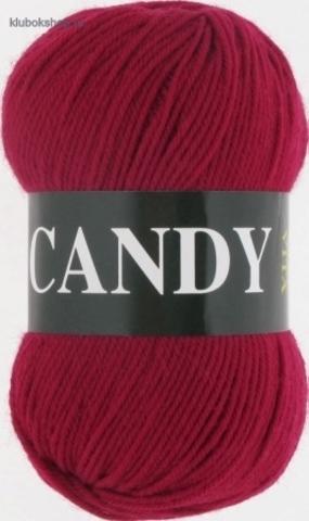 Пряжа Vita: Candy цвет 2536 Красная ягода - купить в интернет-магазине