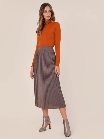 Женский свитер оранжевого цвета из 100% шерсти - фото 5