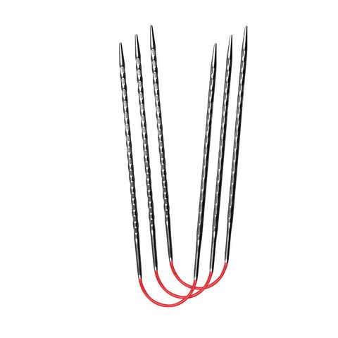 Спицы металлические круговые супергладкие c квадратным кончиком addiCrasyTrioNovel Long №3,5 , 30 см