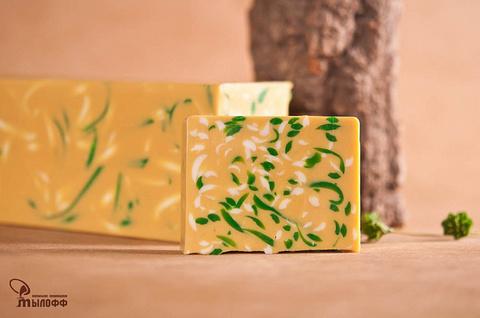 Глицериновое мыло ручной работы Желтая глина с эфирным маслом жасмина внарезку 100 г ТМ Мылофф