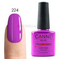 Canni, Гель-лак № 224, 7,3 мл