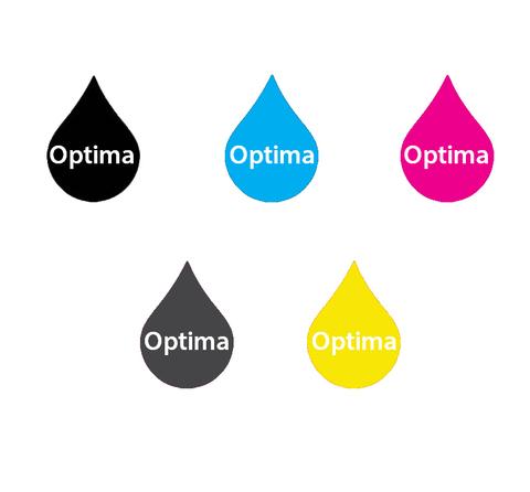 Комплект водорастворимых чернил Optima для Canon 5x250 мл