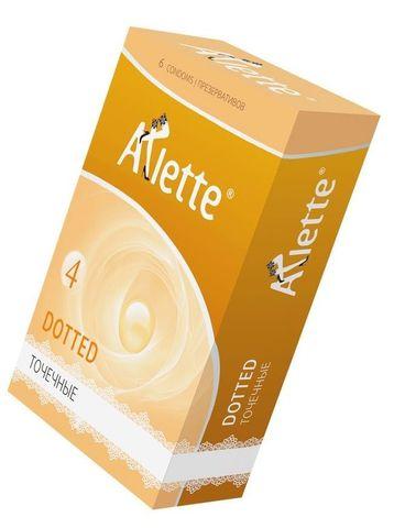 Презервативы Arlette Dotted с точечной текстурой - 6 шт.