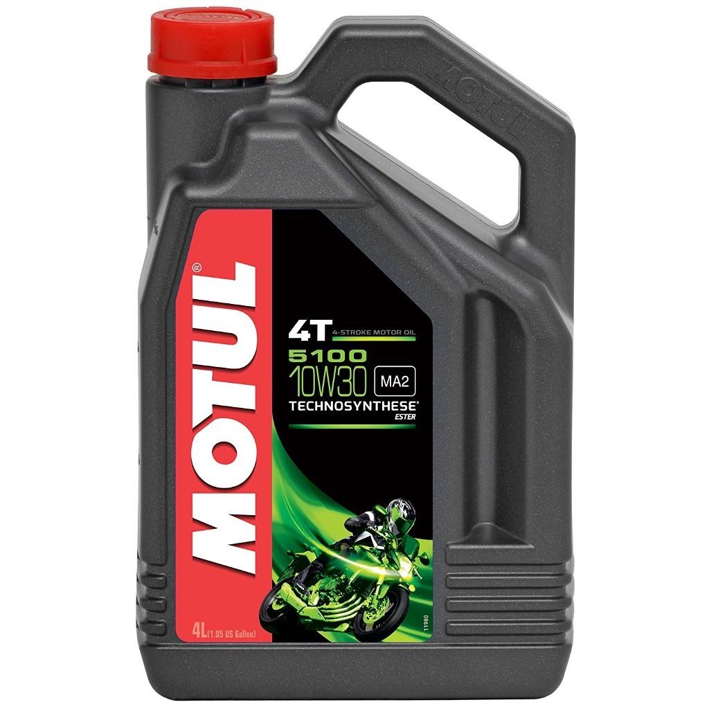 Motul 5100 4T 10W30 Полусинтетическое моторное масло для мотоциклов