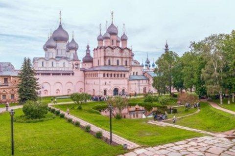 Алмазная Мозаика 40x50 Церковь и парк