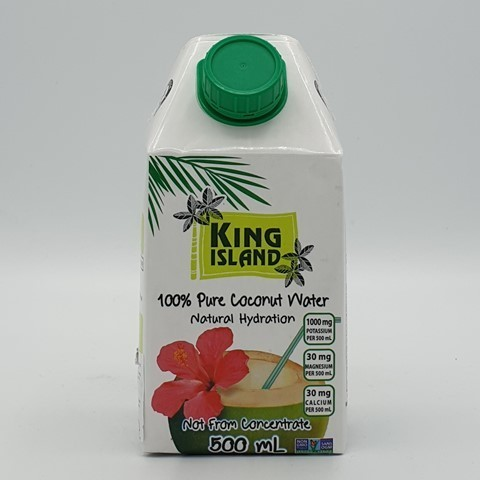 Кокосовая вода без сахара KING ISLAND, 500 мл