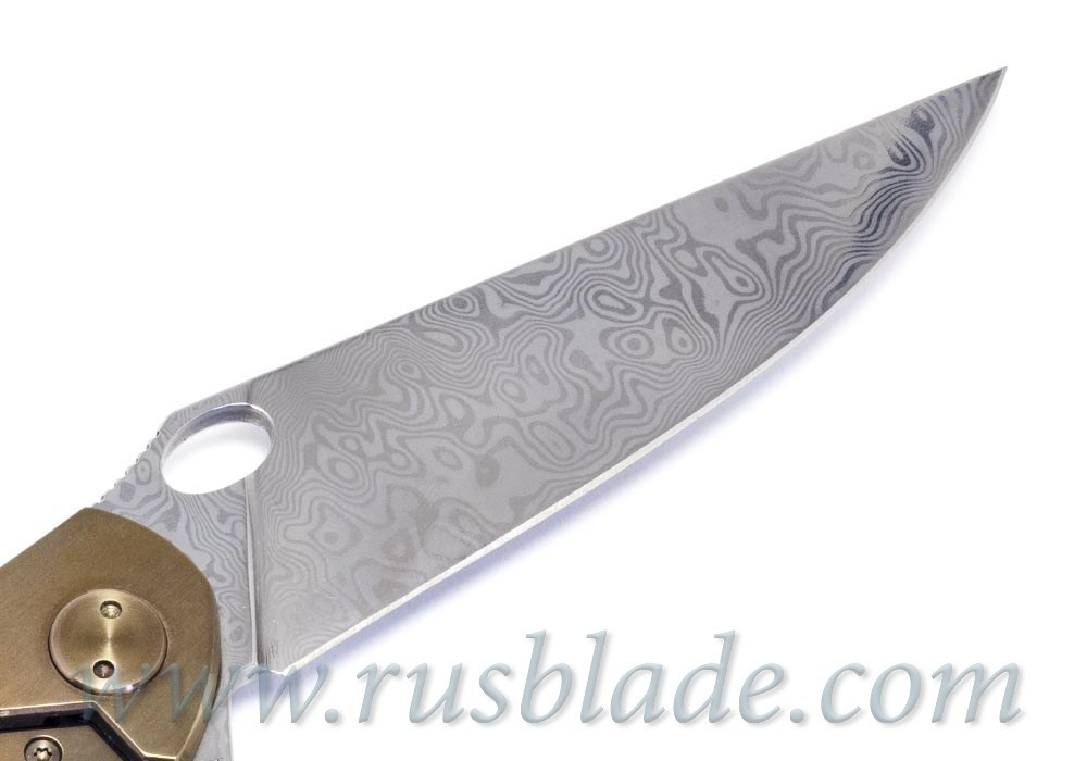 Cheburkov Golden Raven Damascus limited Gold Plated
