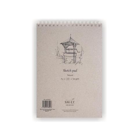 Альбом SM-LT Sketch Natural, A3, 100 л., белый спираль