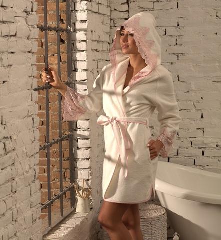 VALERIA -ВАЛЕРИЯ женский бамбуковый халат с капюшоном Maison Dor Турция