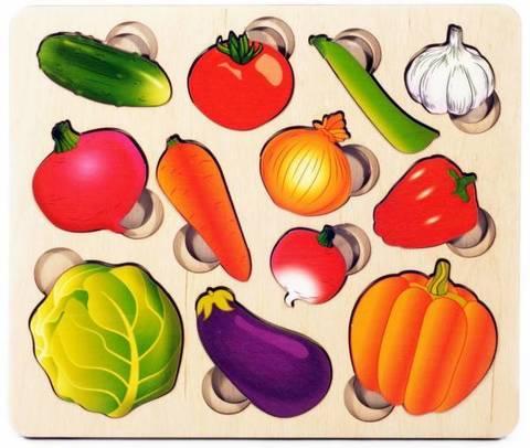 Развивающая доска Овощи. Часть и целое, Нескучные игры, арт. 1428