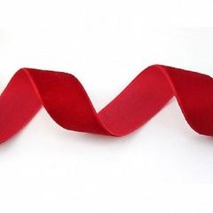 Лента Бархат Красный, 2,5 см * 22,85 м