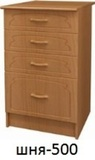 Шкаф нижний с ящиками ШНЯ 500
