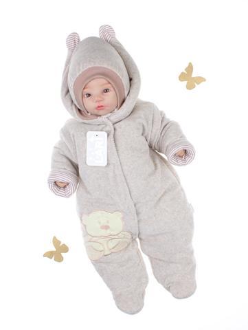 Комбинезон для новорождённого с шапкой Умка беж