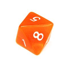 Куб D8 прозрачный: Оранжевый