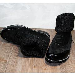 Женские ботинки замшевые Kluchini 5161 k255 Black
