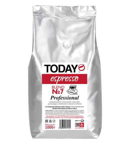 Кофе в зернах Espresso Blend №7, Today, 1 кг
