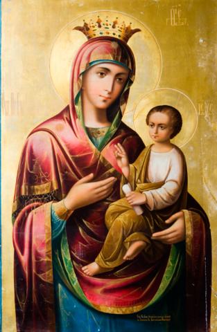 Икона Божией Матери Скоропослушница на дереве на левкасе мастерская Иконный Дом